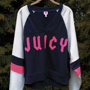Juicy Couture Colorblock V-Neck Sweatshirt  NWT!!!